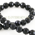 ONYX BEADS - FACETED ROUND BEADS 12MM